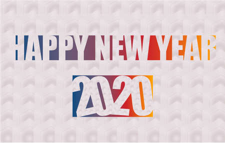 Happy 2020 new year insta colour banner for your seasonal holidays flyers, greetings and invitations, christmas themed congratulations and cards. Vector illustration