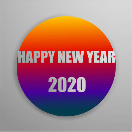 Happy 2020 new year colour banner for your seasonal holidays flyers, greetings and invitations, christmas themed congratulations and cards. Vector illustration