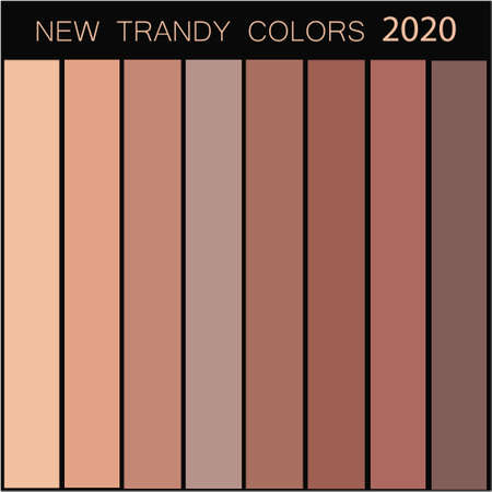 New trendy colors palette guide 2020 for your designs mobile application, web designs and graphic designs. Future Color Trend Forecast