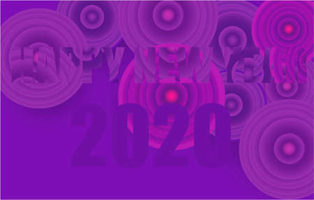 Happy New Year banner with text on abstract background design Zdjęcie Seryjne