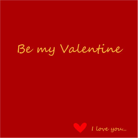 Be my Valentine Greeting Card with text on a red background