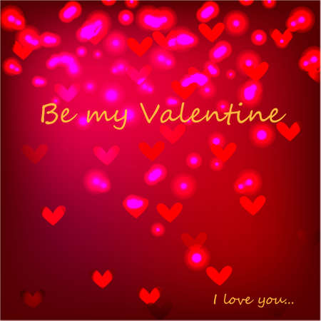 Be my Valentine Greeting Card with text on abstract background