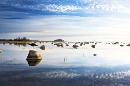 baltic sea: Sky reflection in the sea