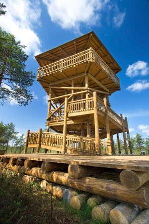 bogs: Watch tower at Viru bogs