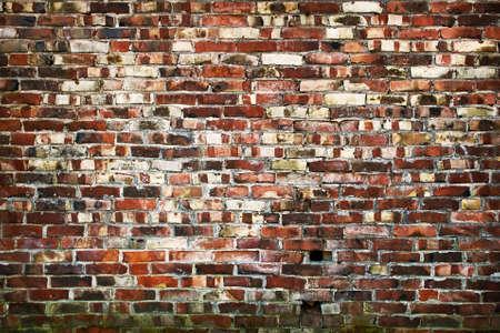 clay brick: Old brickwall Stock Photo