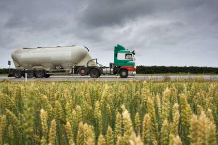 supplier: truck with bulk cargo