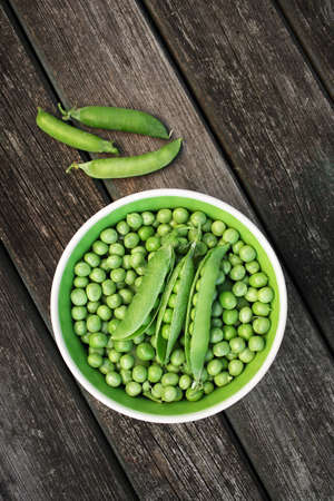 Green peas in a bowl photo