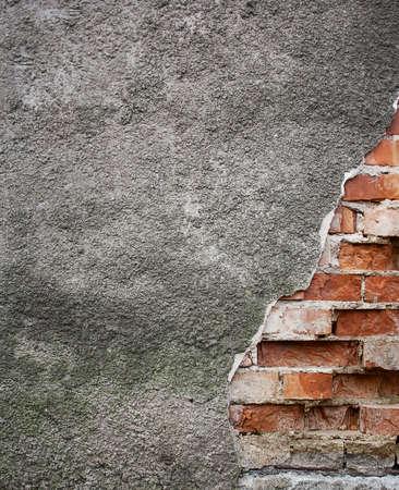 broken wall: Antiguo muro roto