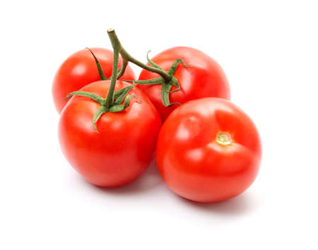 nutricion: group of red tomatoes isolated on white background