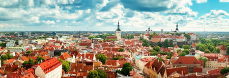 Panoramic view to old Tallinn Reklamní fotografie