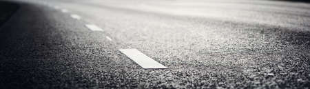 Asphalt road and dividing lines 写真素材