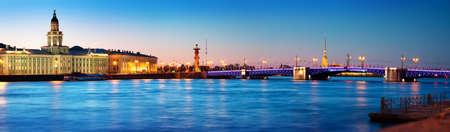 View of Saint Peterburg at night Foto de archivo