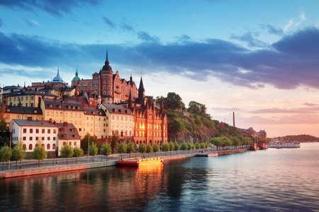 Stockholm at night in summer 版權商用圖片