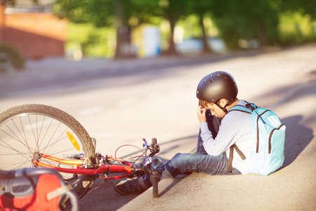 child on a bicycle Standard-Bild