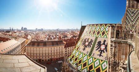 Uitzicht vanaf de Stephansdom in Wenen, Oostenrijk