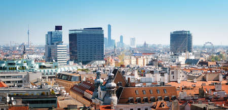 View from St. Stephens Cathedral in Vienna, Austria Stock Photo