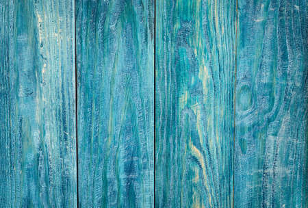 Blue wooden background with painted boards