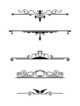 Vintage dividers set 2 Stock Vector - 3305435