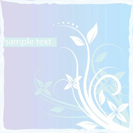 Floral blue frame Vector