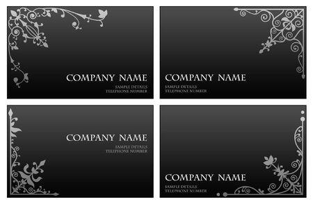 Floral corner business card set Stock Vector - 3313340