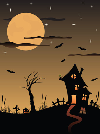 Halloween spooky house Vector
