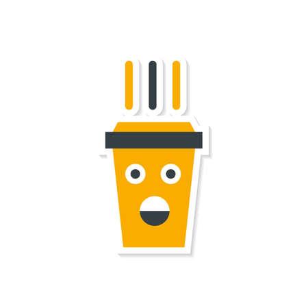 cappucino: Shock coffee cup.