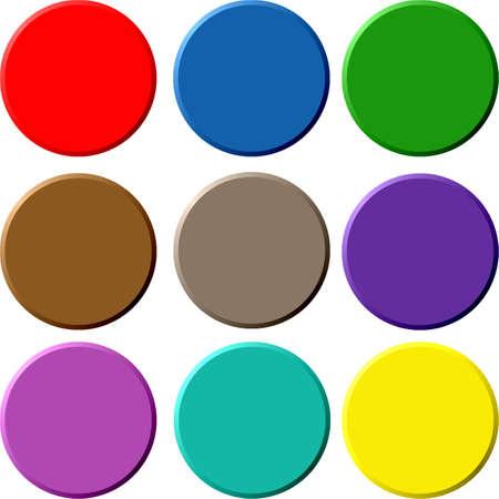 Colorfull circular buttons Stock Photo - 949395