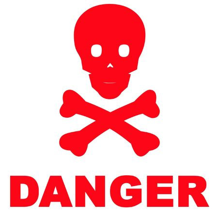 red head: Danger sign