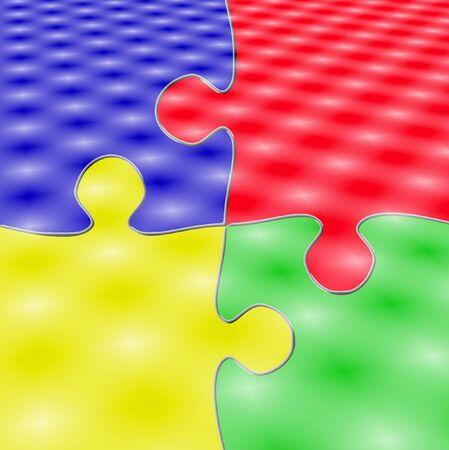 Four pieces puzzle photo