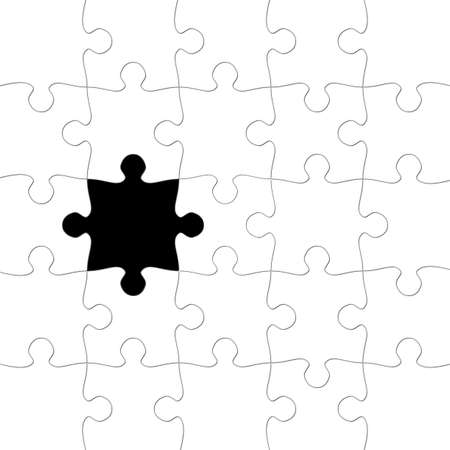 Puzzle with missing piece Stock Photo - 949467