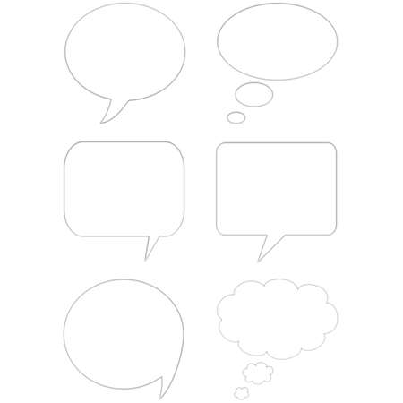 3D comic speech bubbles Stock Photo - 956937