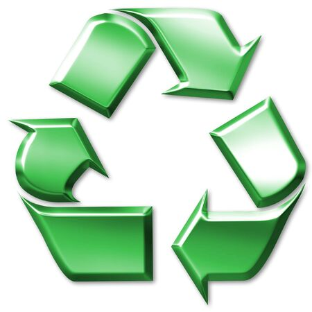 Green recycling symbol Stock Photo