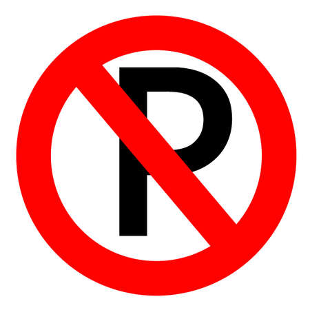 no parking: No parking sign