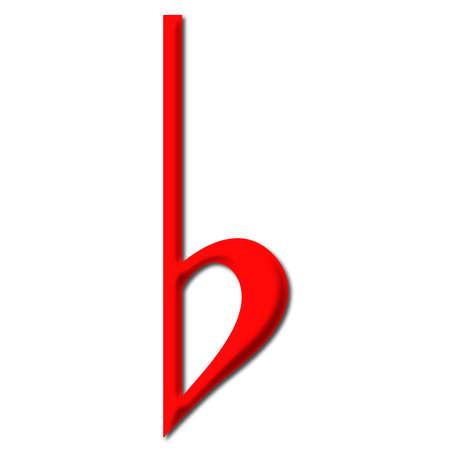 music theory: Flat Symbol Stock Photo