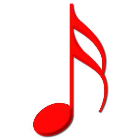 music theory: Sixteenth Note Stock Photo