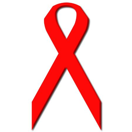 Awareness Red Ribbon a symbol for the fight against Aids and Drug Abuse Stock Photo - 1051576