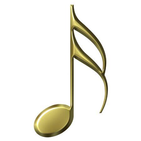 music theory: 3D Golden Sixteenth Note