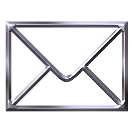 3D Silver Envelope photo