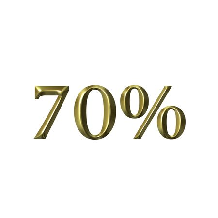 70: 70 percent Stock Photo