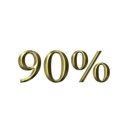 90: 90 percent