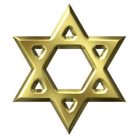 judaic: Golden Star of David Stock Photo