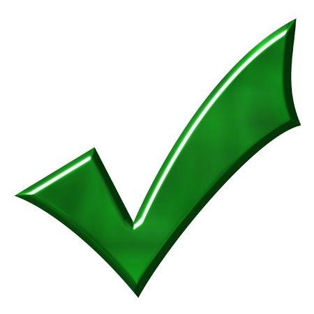 Green Tick Stock Photo - 1158163