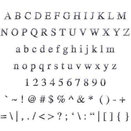 nickel: Metallic Font