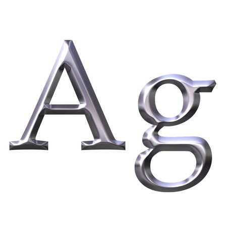 ag: Silver Symbol Stock Photo