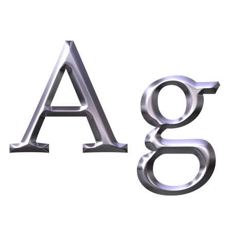 ag: Silver Symbol Stock Photo