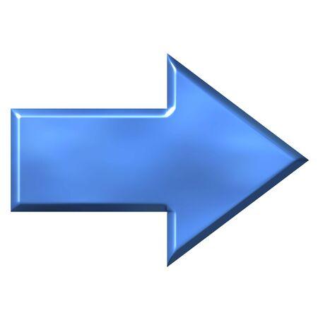 azure: 3D Azure Arrow  Stock Photo
