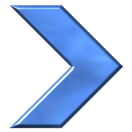 shinning: 3D Azure Arrow  Stock Photo