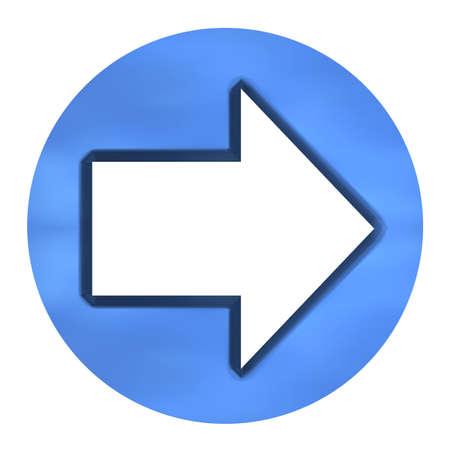 holed: 3D Azure Arrow Button