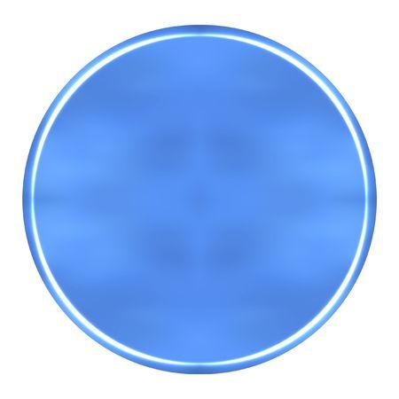 azure: 3D Azure Circular Button Stock Photo