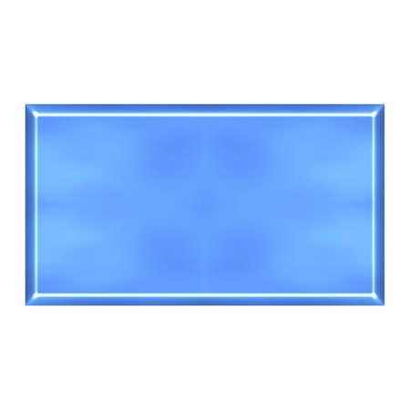 azure: 3D Azure Square Button